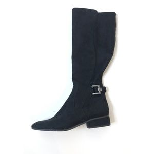 EASY SPIRIT Black Suede Dayla Riding Boots
